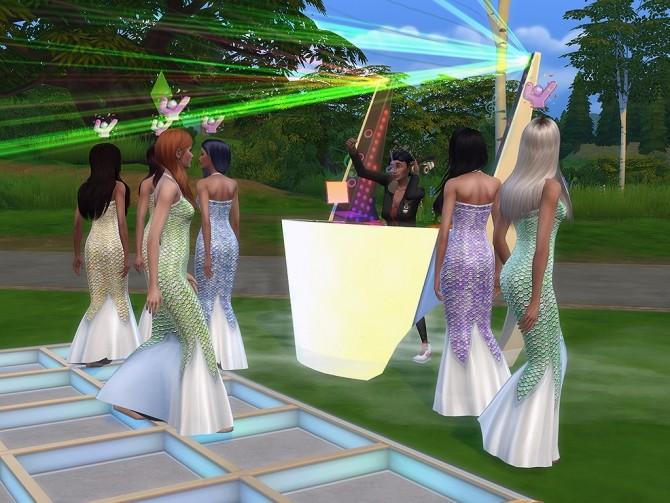 Sims 4 Mermaid dress by Simalicious at Mod The Sims