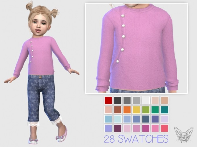 Sims 4 Sweater With Pearl Buttons T at Giulietta