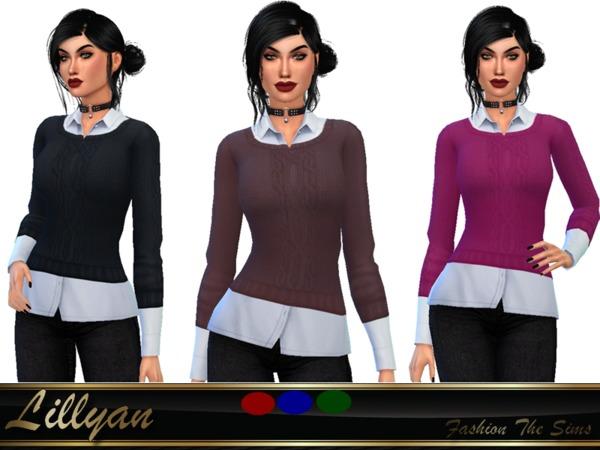 Social blouse by LYLLYAN at TSR image 51 Sims 4 Updates