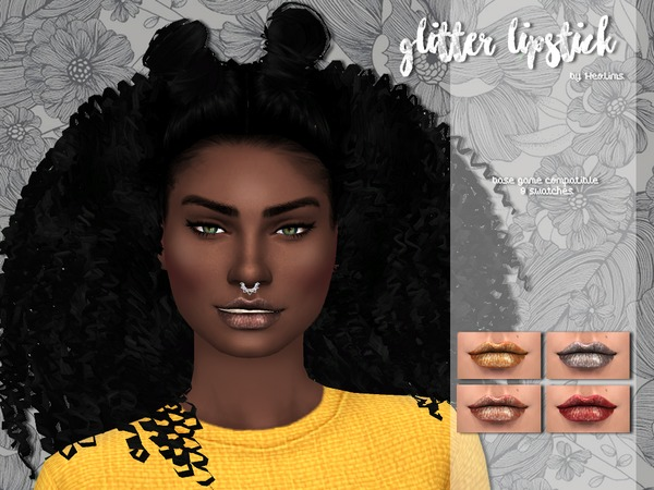 Sims 4 Glitter Lipstick by Heolims at TSR
