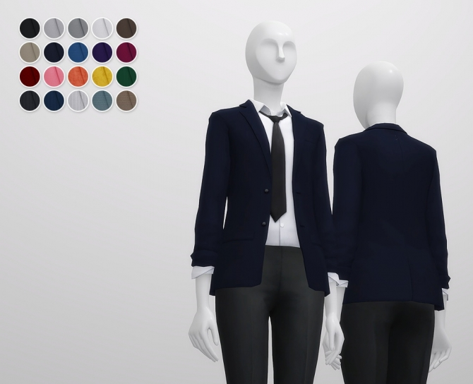 Business Suit F Separate Top At Rusty Nail 187 Sims 4 Updates