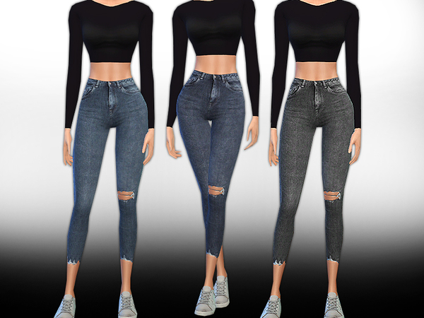 New Style Realistic Crop Jeans by Saliwa at TSR image 5216 Sims 4 Updates