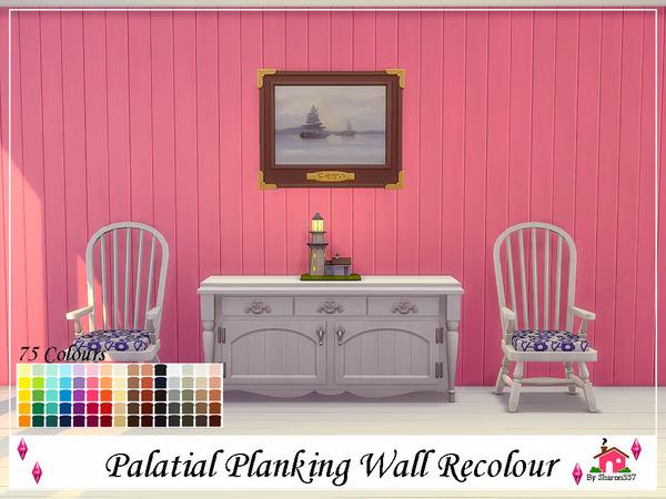 Sims 4 Palatial Planking Wall Recolour by sharon337 at TSR