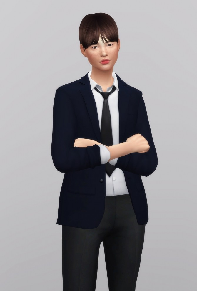 Sims 4 Business Suit F Separate Top at Rusty Nail