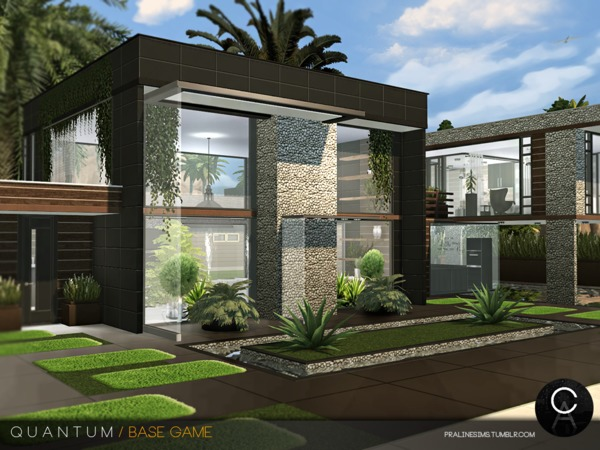 Sims 4 Quantum house by Pralinesims at TSR