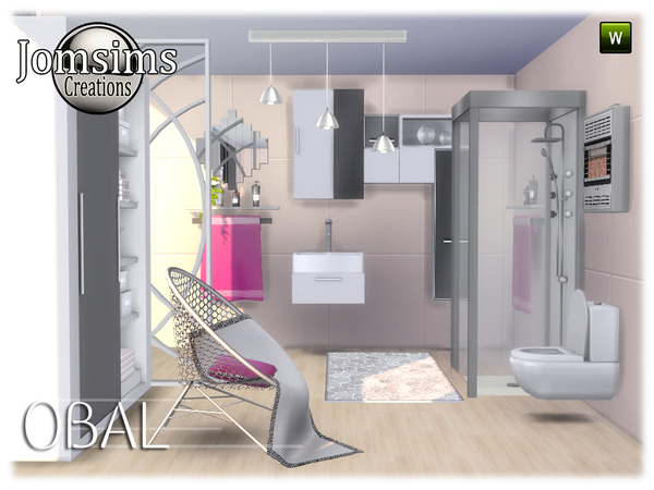 Obal bathroom by jomsims at TSR image 529 Sims 4 Updates