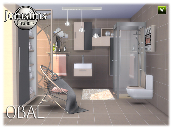 Obal bathroom by jomsims at TSR image 538 Sims 4 Updates