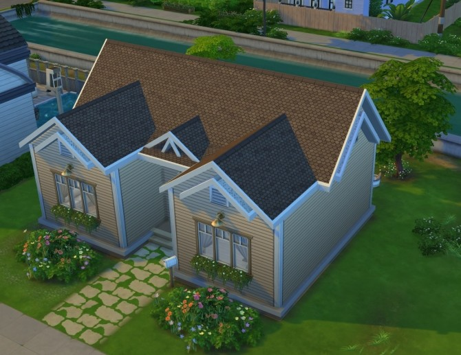 Sims 4 Starter House NoCC 19K by OxanaKSims at Mod The Sims