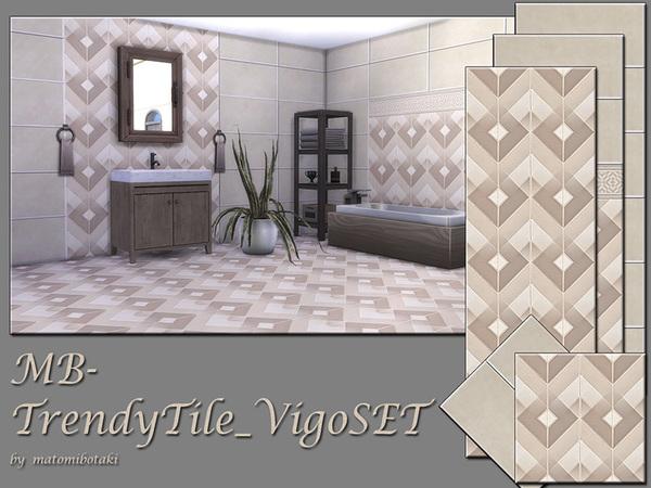 MB Trendy Tile Vigo SET by matomibotaki at TSR image 54 Sims 4 Updates