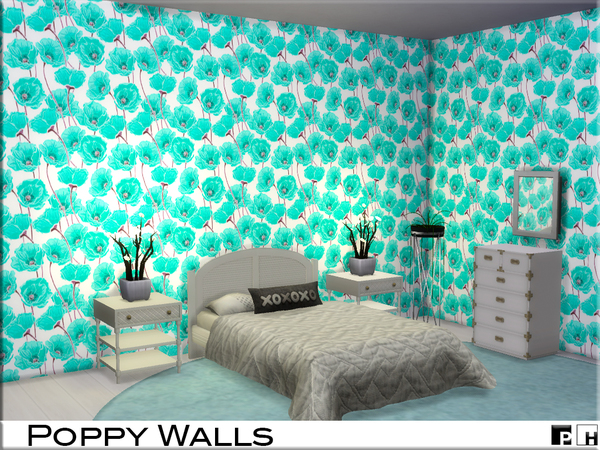 Poppy Walls by Pinkfizzzzz at TSR image 540 Sims 4 Updates