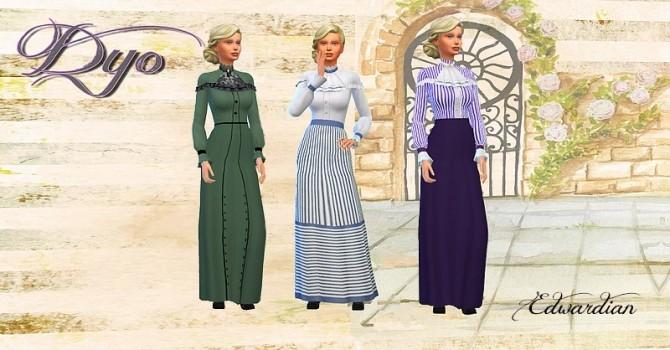 Sims 4 Edwardian dress 2 by Dyo at Sims 4 Fr