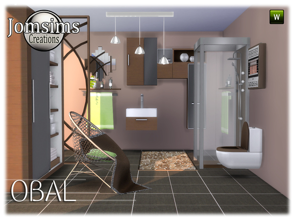 Obal bathroom by jomsims at TSR image 548 Sims 4 Updates