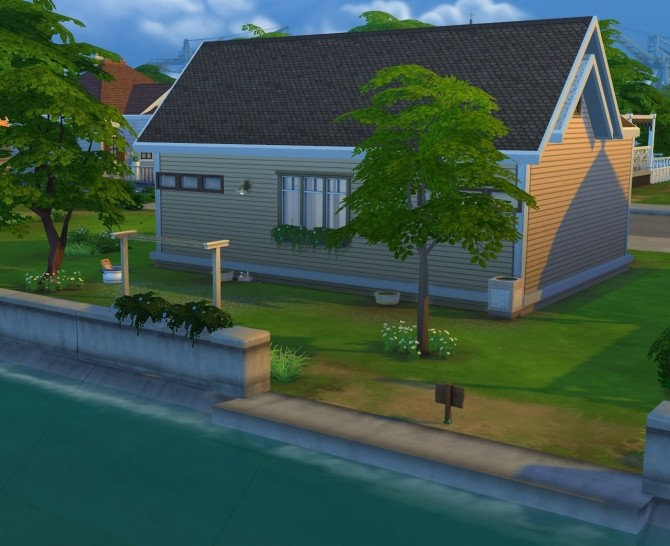 Starter House NoCC 19K by OxanaKSims at Mod The Sims image 549 670x546 Sims 4 Updates