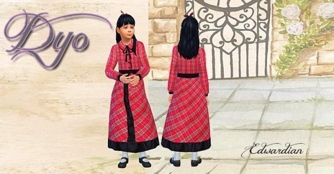 Sims 4 Edwardian dress kids 1 by Dyo at Sims 4 Fr