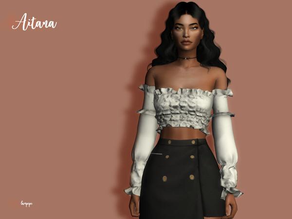 Sims 4 Aitana blouse by laupipi at TSR