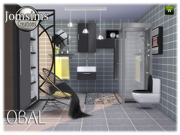 Obal bathroom by jomsims at TSR image 558 Sims 4 Updates