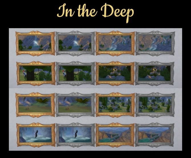 Sims 4 Paintings In the Deep by Simmiller at Mod The Sims