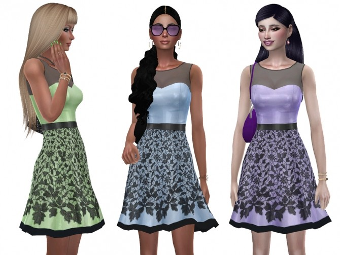 Sims 4 Emylie dress by Simalicious at Mod The Sims