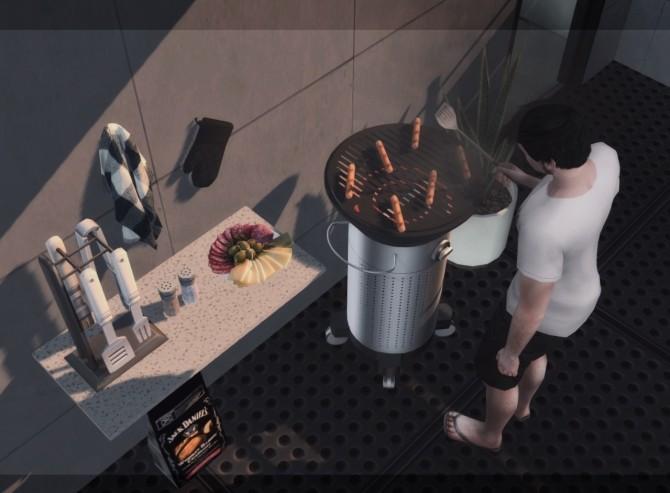 Sims 4 Element Minimalist Grill at DOX