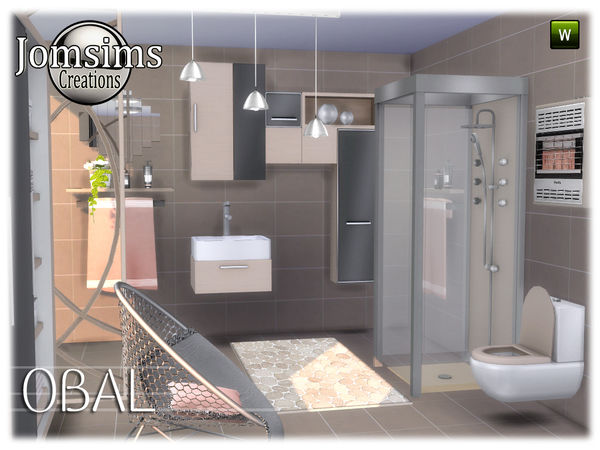 Obal bathroom by jomsims at TSR image 568 Sims 4 Updates