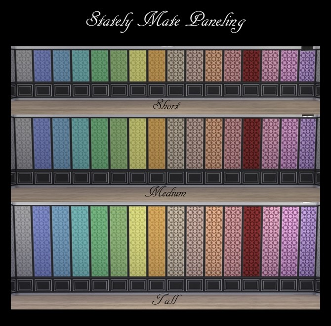 Stately Mate Paneling 32 Colours by Simmiller at Mod The Sims image 569 670x659 Sims 4 Updates