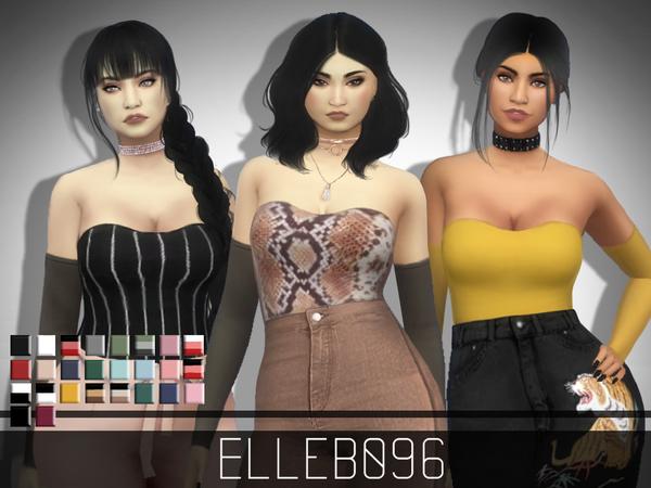 Sims 4 Sheer Sleeve Top by Elleb096 at TSR