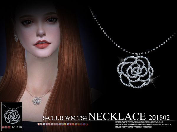 Necklace F 201802 by S Club WM at TSR image 574 Sims 4 Updates
