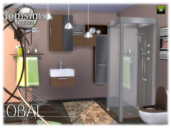 Obal bathroom by jomsims at TSR image 578 Sims 4 Updates