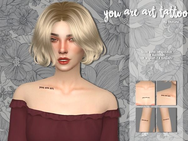 You are art tattoo by Heolims at TSR image 5817 Sims 4 Updates
