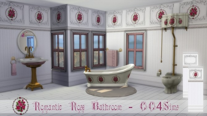 Romantic rose bathroom by Christine at CC4Sims image 583 670x377 Sims 4 Updates
