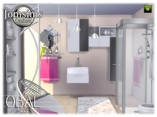 Obal bathroom by jomsims at TSR image 588 Sims 4 Updates