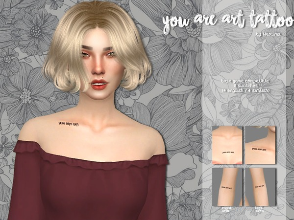 You are art tattoo by Heolims at TSR image 5917 Sims 4 Updates