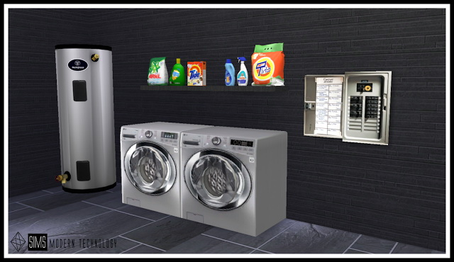 MG24 EA Functional Washer & Dryer Retexture at Sims Modern Technology image 593 Sims 4 Updates