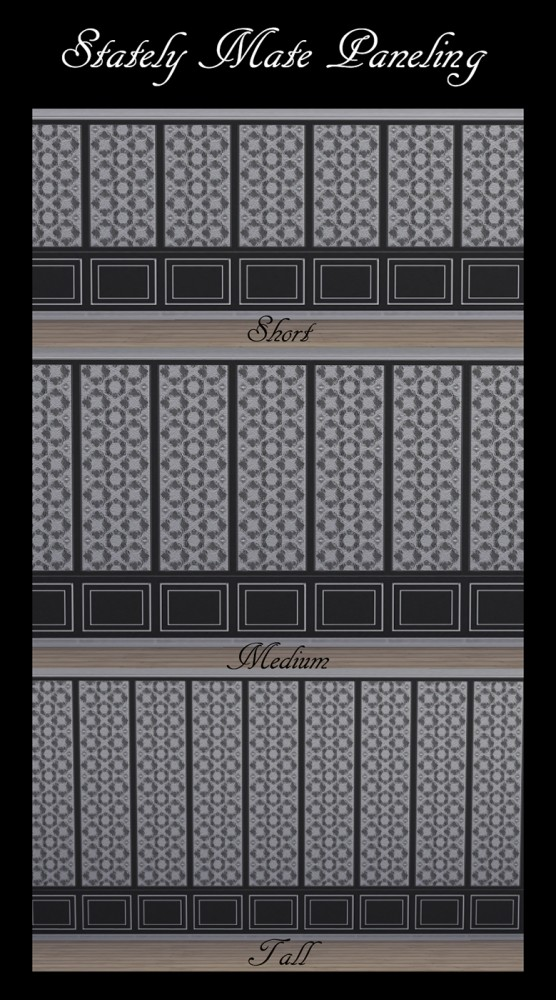 Sims 4 Stately Mate Paneling 32 Colours by Simmiller at Mod The Sims