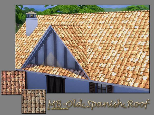 MB Old Spanish Roof by matomibotaki at TSR image 6017 Sims 4 Updates