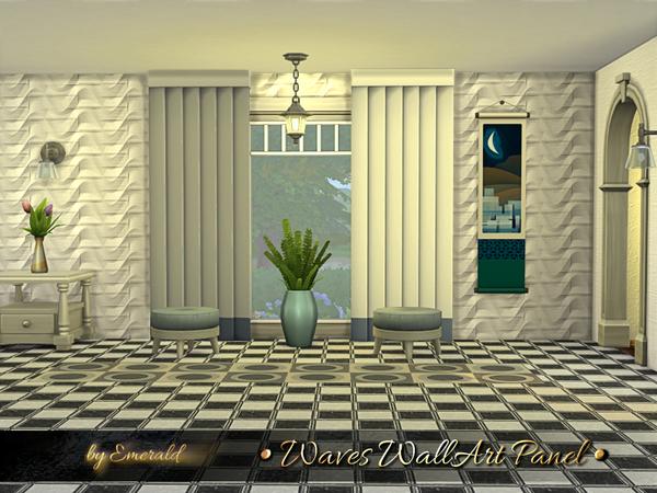 Sims 4 Waves WallArt Panel by emerald at TSR