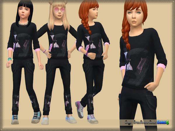 Sims 4 Set Flamingo pants and sweater by bukovka at TSR