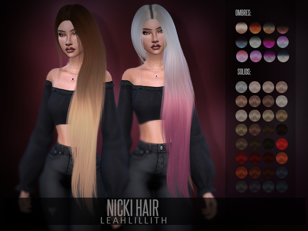 Nicki Hair by Leah Lillith at TSR image 624 Sims 4 Updates