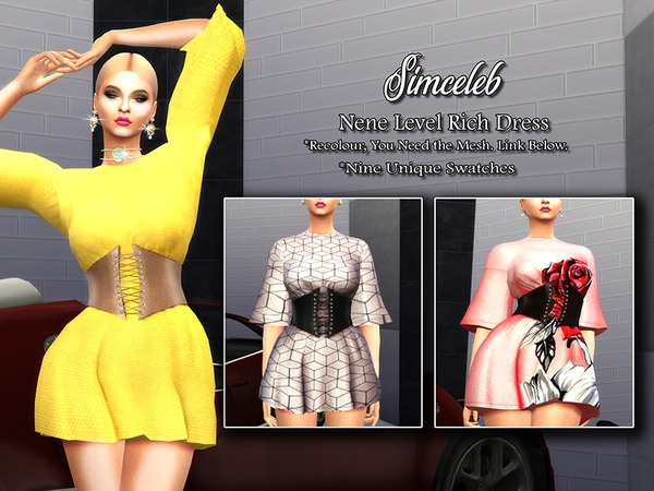 Sims 4 Nene Level Rich Dress by simceleb at TSR