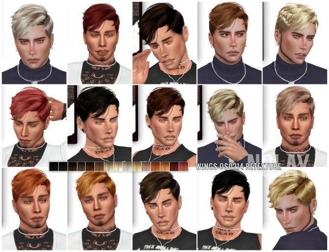 Sims 4 WINGS OS0214 Hair Retexture by Nolay at Mod The Sims