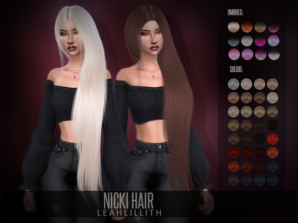 Nicki Hair by Leah Lillith at TSR image 634 Sims 4 Updates