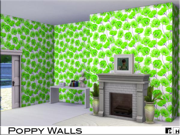 Poppy Walls by Pinkfizzzzz at TSR image 639 Sims 4 Updates