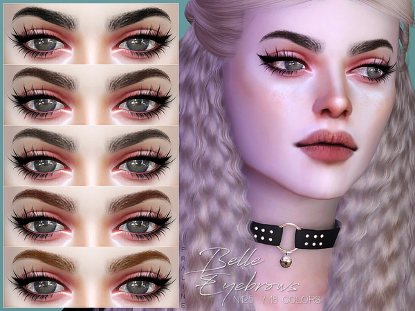 Belle Eyebrows N125 by Pralinesims at TSR image 644 Sims 4 Updates