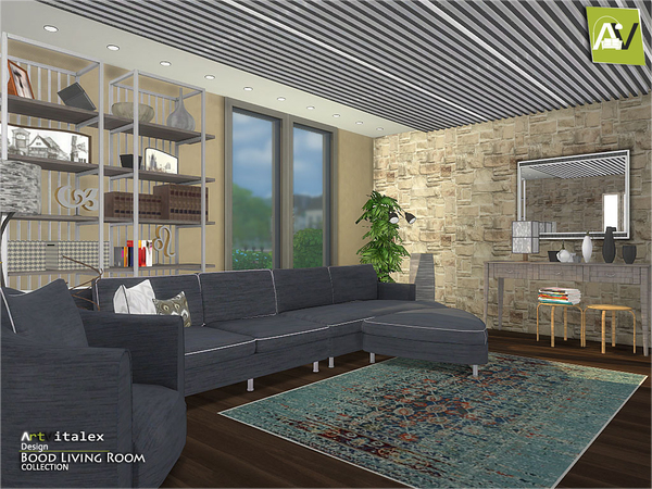 Bood Living Room by ArtVitalex at TSR image 654 Sims 4 Updates