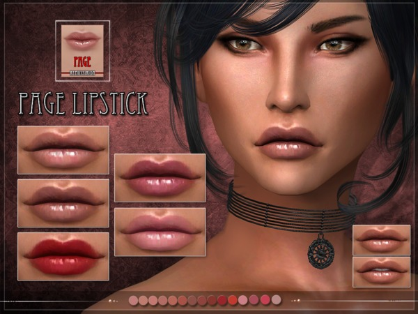 PAGE Lipstick by RemusSirion at TSR image 658 Sims 4 Updates