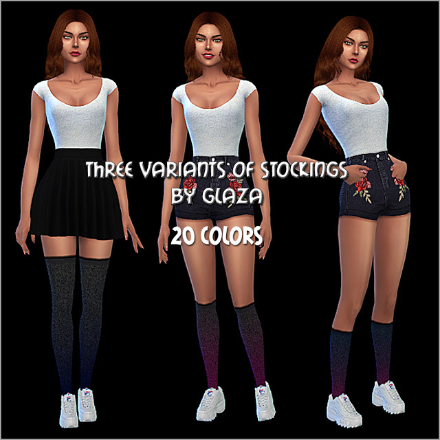 Three variants of stockings at All by Glaza image 6613 Sims 4 Updates