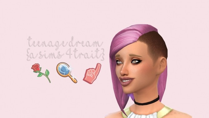 Sims 4 Teenage Dream Trait by fabulousfabulous at Mod The Sims