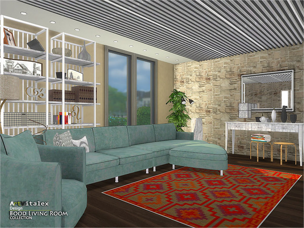Bood Living Room by ArtVitalex at TSR image 664 Sims 4 Updates