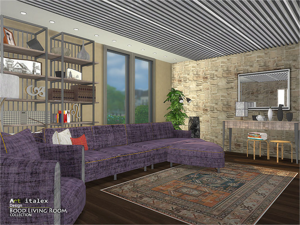 Bood Living Room by ArtVitalex at TSR image 674 Sims 4 Updates