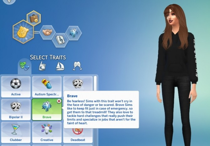 Sims 4 Brave Trait by GoBananas at Mod The Sims
